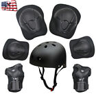 Kids Skateboard Bicycle Protection Set Scooter Helmet Knee Elbow Wrist Pads