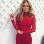 Women Lace Fashion Formal Evening Ball Gown Party Cocktail Prom Bridesmaid Dress