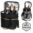 Внешний вид - OPUX Insulated 4 Bottle Wine Bag Carrier Tote Carrying Cooler for Picnic Travel