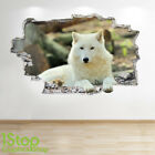 WOLF WALL STICKER 3D LOOK - BEDROOM LOUNGE NATURE ANIMAL WALL DECAL Z565