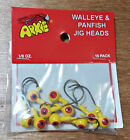 PAINTED Walleye Bass Crappie Panfish Northern Lead Jig Heads YOU PICK COLOR/SIZE