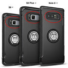 For Samsung Galaxy S9/S8+ Plus Ring Holder Shockproof Rugged Armor Case Cover