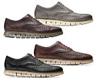 Men Cole Haan Zerogrand Wingtip Oxford Shoes Leather Brogue Oxfords NEW
