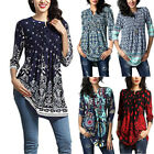 Women's Loose Long Sleeve Cotton Casual Blouse Shirt Tunic Tops Fashion Blouse