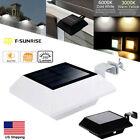 Outdoor Garden Solar Power Light Wall Roof Path Gutter Fence Security LED Lamp