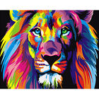 Colorful+Lion+Painting+by+numbers+on+canvas+outline+do+it+yourself