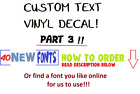 Custom Text Word Name Vinyl Decal Sticker For Vehicle Cup Mug Yeti Label  Part 3