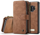 Fits Samsung Galaxy S9 S9+Plus 14 Card Slots Leather Wallet Zipper Case Cover