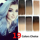 19Colors Womens Long Straight One Piece Clip In Hair Extensions 150g /26inch