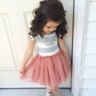 Flower Girl Princess Dress Kids Baby Party Wedding Pageant Tutu Skirts Clothes