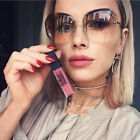 Luxury Transparent Gradient Sun Glasses For Women Elegant Rimless Sunglasses