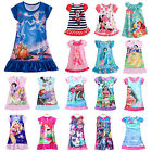 Girl Kid Nightie Nightdress Cartoon Character Pyjamas Sleepwear Nightwear 2-13 Y image
