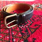 Giorgio Armani Black Leather Men?s Belt Size 85 35 Made in Italy