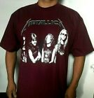 NEW!!  METALLICA ROCK BURGUNDY T SHIRT MEN'S SIZE image