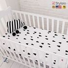 Cotton Baby Fitted Sheet Cartoon Crib Mattress Protector,Baby Bed For Size130*70