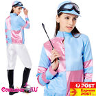 Womens Jockey Costume Ladies Horse Rider Racing Uniform Sports Fancy Dress