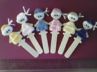 Puppets Doll Bookmark SOOOO Cute Unique & VERY GIRLY Hand knitted dresses & hats