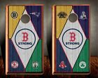 Boston Strong 2 3M Cornhole Wrap Set   Board Decals  Bag Toss Game Stickers