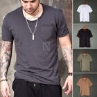 NewStylish Mens Casual Fashion Tee Top Shortsleeves Distressed U-neck T-shirts