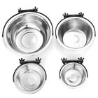 Hanging Cage Bowl, Coop Cup, Dog Dish Crate Stainless Steel Pet Bird,Top Quality