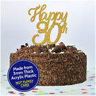Personalised Cake Topper Happy 30th Birthday Thirty Custom ANY AGE Decoration