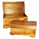 Wooden Sharing Keepsake Token Ashes Urn Box Container, Engraved