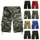 Men Casual Shorts Military Army Pants Cargo Camo Combat Work Trousers MC0080