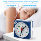 New Mini Alarm Clock Battery Silent Home Desk Table Snooze Analog Clock AM