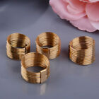 Multilayer Gold Plated Ring Stainless Steel Band for Men Women Wedding