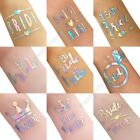 Colourful Tattoo Team Bride Tribe Hen Do Night Party Holographic Iridescent