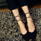 Women Summer Bobby Socks Breathable Skidproof Lace-up Ballet Toe Sox  Soft