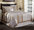 GRACE QUILT SET-choose size & accessories-Farmhouse Stripe Check VHC Brands image