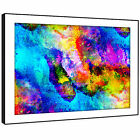 AB1578 Colourful Cool Funky Modern Abstract Framed Wall Art Large Picture Prints