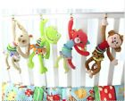 Baby Plush Rattle Toy Car Seat Stroller Toys Infant Crib Hanging Monkey Frog Dog