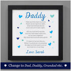 Personalised Birthday Poem Dad Daddy Grandad From Baby Daughter Son Child