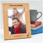 PERSONALISED Fathers Day Gifts 1st First I Love My Daddy ENGRAVED Photo Frames