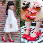 Hot Girls Leather High Heel Shoes Bowknot Dress Shoes High Heel Dance Shoes