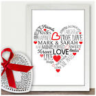 Personalised 1st Wedding Anniversary Gifts For Husband Wife Him Her Couples