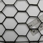 """Chicken Wire Fence BLACK PVC Coated UV 1"""" Hex Poultry Aviary Bird Chicken Wire"""