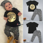 Newborn Infant Boy Girl Baby Romper Clothes T-shirt Top Pants Casual Outfits Set