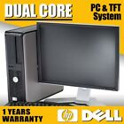 FULL DELL/HP DUAL CORE DESKTOP TOWER PC & TFT COMPUTER SYSTEM WINDOWS 10 & 500GB