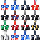 Mens Compression T-Shirt Fitness Sports Cycling Stretch T Shirts Tops Base Layer image