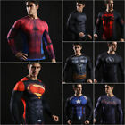 Mens Long Sleeve Compression T-Shirt Tops Muscle Fitness Gym Sports T Shirt Tee image
