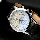 Top Brand Luxury Men's Quartz Watch Sport Military Leather Casual Wrist Watches
