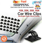 Car Wire Clips Cable Holder Self-Adhesive Tie Cord Clamp Mount Clip Organizer UK