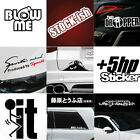 Racing Car Auto SUV Funy Decal Stickers JDM Reflective Vinyl Graphic Sticker