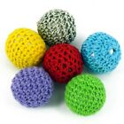 5 Teether Making  Crochet Wool Woven Fabric Beads, 22mm Choose Colour