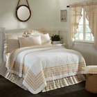 ANNIE BUFFALO TAN CHECK QUILT SET-choose size & accessories-Farmhouse VHC Brands image