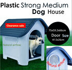 Plastic Dog House Pet Kennel Weather Resistant Heavy Duty Super Strong