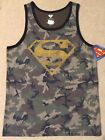 SUPERMAN Batman Justice LEAGUE Movie MEN'S CAMO Tank Top GYM SLEEVELESS T-Shirt image